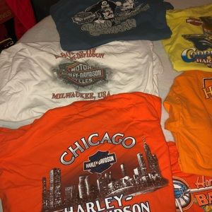 Harley Davidson 2XL, six T-shirt lot